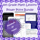 6th grade Power Point lessons - Math - Common Core aligned