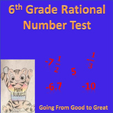 6th grade Rational Numbers Math Test