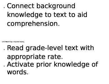 6th grade Reading Street Unit 2, Week 2 Objectives