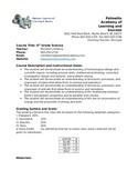 6th grade Science Syllabus