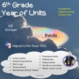 6th grade Year GROWING Bundle Aligned to the TEKS - Distan