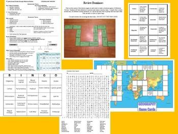 GA 6th grade Social Studies Milestone Review BUNDLE 1