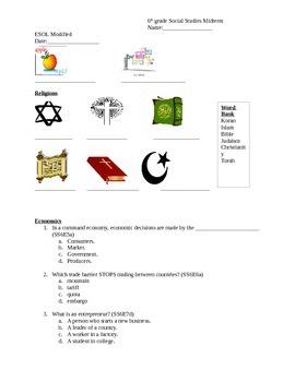 6th grade Social Studies Midterm