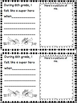 6th grade Summer Send-Off  SCOOT Memory Book~Classmate Compliments