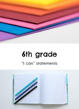 "6th grade: Visual Art- ""I Can"" Statements"