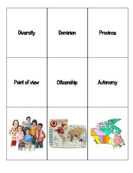 6th grade World Cultures Canada Word Sort