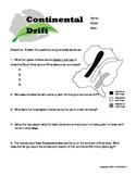 6th grade continental drift worksheet