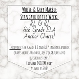6th grade ela standard anchor chart white and grey marble