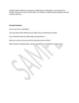 6th grade essential questions and themes