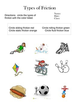 Friction worksheet 5th grade