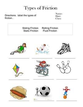 6th grade friction worksheets differentiated by lauren allen tpt. Black Bedroom Furniture Sets. Home Design Ideas
