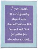 6th grade glossary CCSS McGraw Hill aligned
