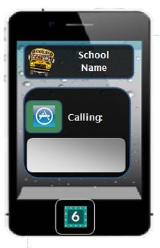 6th grade locker and name tag   4 per page