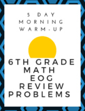 6th grade math EOG (5 day daily warm-up)