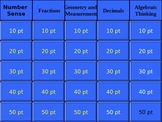 6th grade math Jeopardy Review