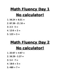 6th grade math TN Ready  - Fluency