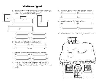 6th grade math midterm Christmas Review