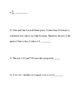 6th grade math test prep worksheets 1, with answer keys