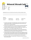 6th grade minerals Lab- Streak and hardness