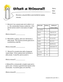 6th grade minerals worksheet - Mohs scale