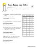 6th grade minerals worksheet- specific gravity