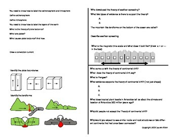 6th grade plate tectonics study guide
