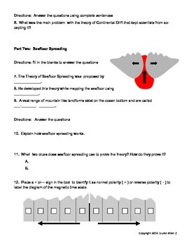 6th grade plate tectonics test- low level
