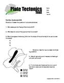6th grade plate tectonics test- very below level