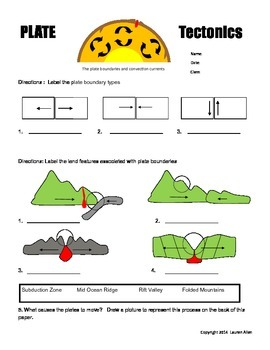 6th grade plate tectonics worksheets by lauren allen tpt. Black Bedroom Furniture Sets. Home Design Ideas