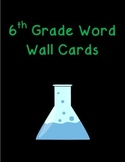6th grade science word wall cards bundle (all units included)
