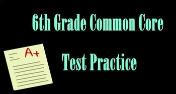 6th grade standardized math test practice**SMARTBOARD FILE**