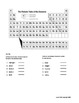 6th grade test Atoms and Periodic Table - at and above level