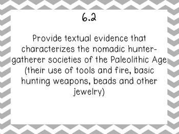 6th grade world history part 1 standards TN