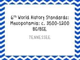 6th grade world history part 2 standards TN