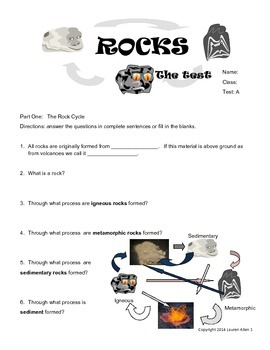 6th rock cycle final test- at and above level