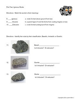 6th rock cycle final test- basic/esl reading level