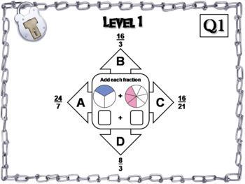 Math Escape Room Bundle 6th 7th 8th Grade