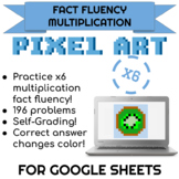 6x Multiplication Pixel Art! Digital Practice for Math Facts with Secret Reveal!