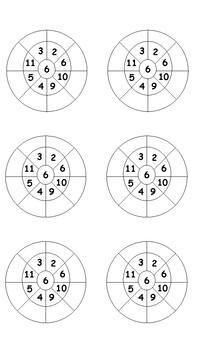 6x Multiplication Wheels