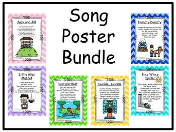 6x Song Poster Bundle