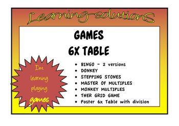 6x TABLE - GAMES BUNDLE - 6 Games + Poster
