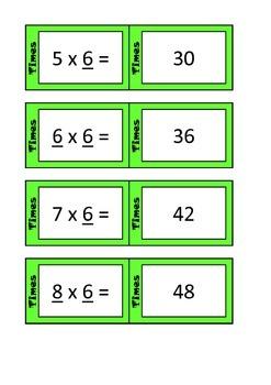 Quiz Quiz Trade 6x Times Table Cards
