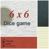 6x6 Dice Game Cards