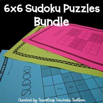 6x6 Sudoku Puzzles Bundle
