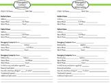 6x91/2 Emergency Contact Sheet