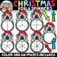 Christmas Spinners Clipart Bundle {Christmas Clipart}