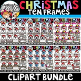 Christmas Ten Frames Clipart Bundle {Christmas Clipart}