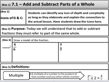 Go Math - 4th Grade Chapter 7.1 Add and Subtracts Parts of