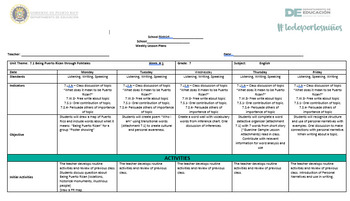 7.1 Englsh Lesson Plans