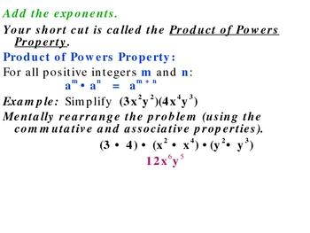 7-1 Properties of exponents